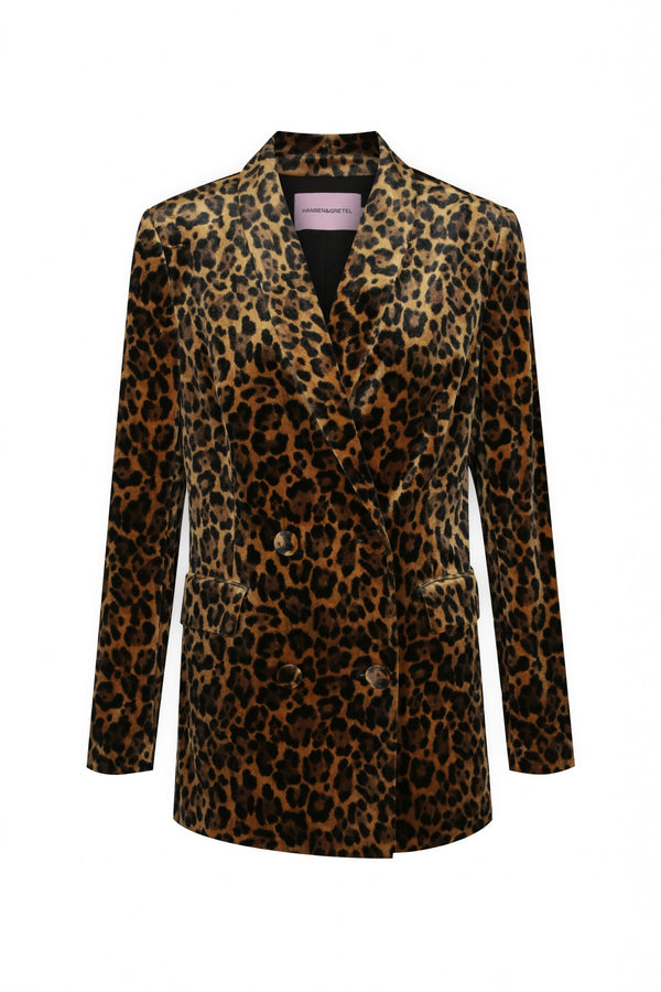Kitty Velvet Jacket - Leopard-Jackets-Hansen and Gretel-XS-UPTOWN LOCAL