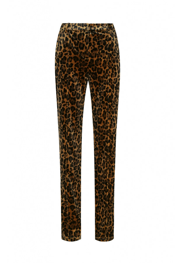 Lena Velvet Pant - Leopard-Pants-Hansen and Gretel-XS-UPTOWN LOCAL