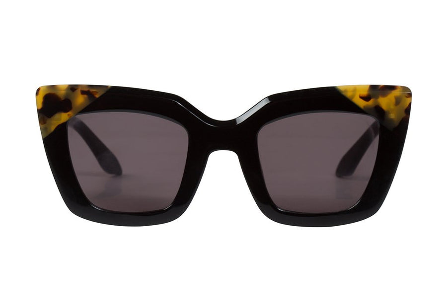 Brigada Gloss Black w Tort Brow Corners/ Black Gradient Lens-Sunglasses-Valley-UPTOWN LOCAL