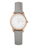 Ivy Girl - Rose Gold / White / Grey Leather-Watch-The Horse-UPTOWN LOCAL