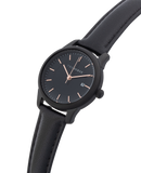 Ivy Girl - Black / Black Dial / Black Leather-Watch-The Horse-UPTOWN LOCAL