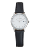 Ivy Girl - Polished Silver / White / Black Leather-Watch-The Horse-UPTOWN LOCAL