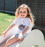 KIDS Tigers Eye Tee - White-T-Shirts-ENA PELLY-2-UPTOWN LOCAL