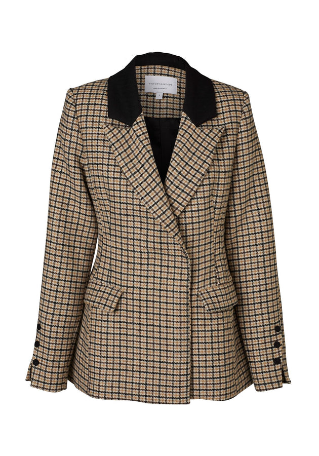 Riccardo Blazer Jacquard-Jackets-Viktoria and Woods-UPTOWN LOCAL