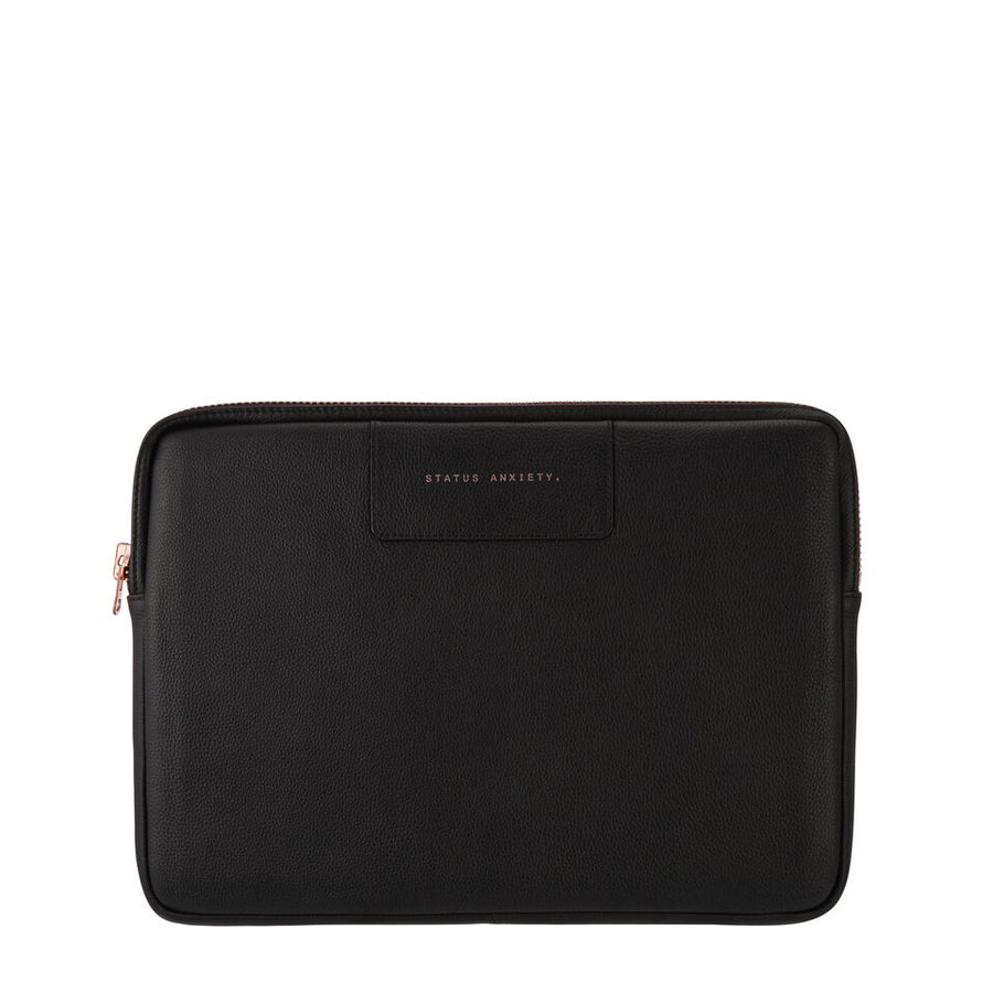 Before I Leave Laptop Case-Bags-Status Anxiety-Blk/Rose Gold-UPTOWN LOCAL