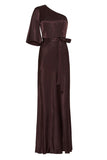 La Lune One Shoulder Bias Maxi Chocolate-Dresses-Shona Joy-UPTOWN LOCAL