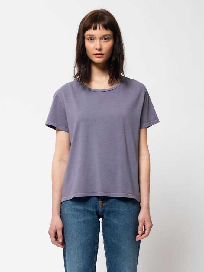 Lisa Cropped Tee - Lilac-T-Shirts-Nudie Jeans-XS-UPTOWN LOCAL