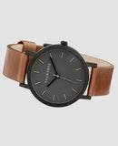 Original Mini - Matte Black Case / Grey Dial / Tan Band-Watch-The Horse-UPTOWN LOCAL