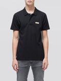Mikael Logo Polo Shirt Black-T-Shirts-Nudie Jeans-UPTOWN LOCAL