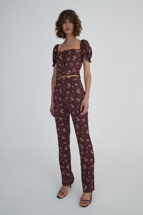 Oscar Pant Dark Floral-Pants-Hansen and Gretel-XS-UPTOWN LOCAL