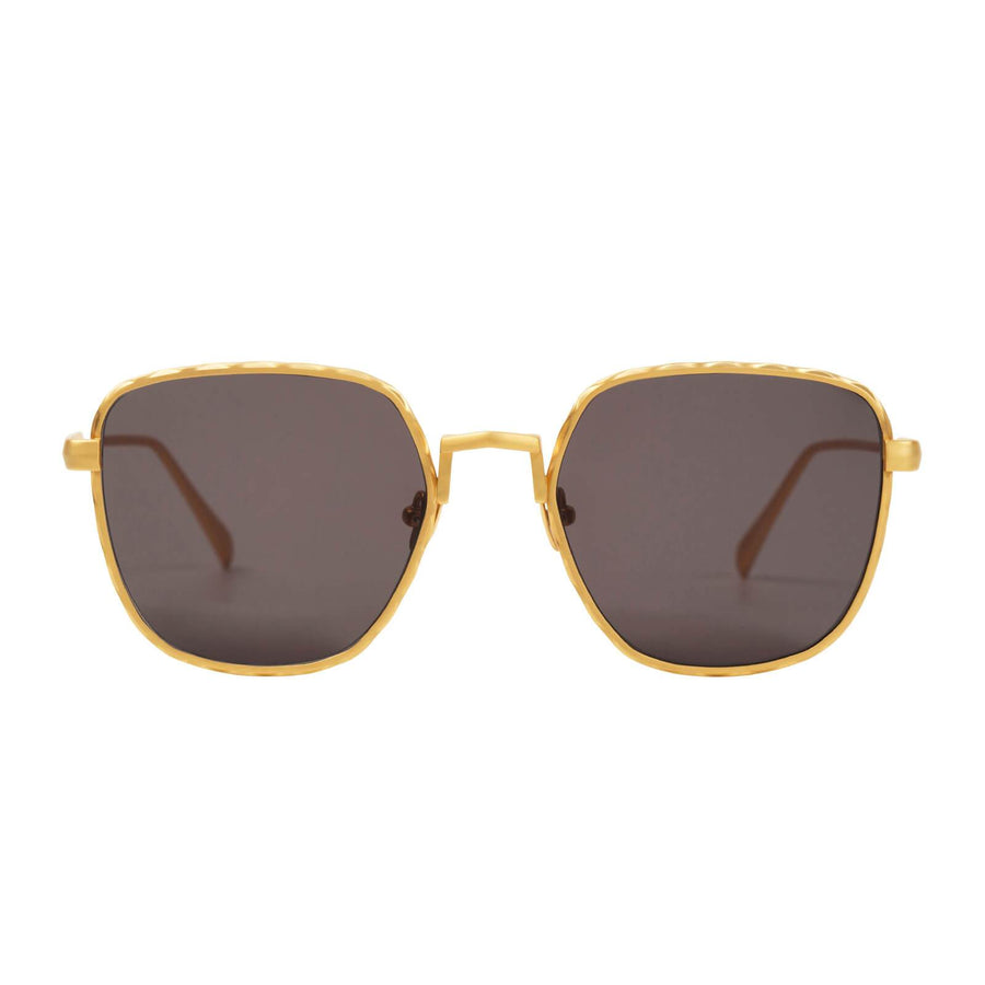 Dotan Brushed Gold Titanium/Black Lens-Sunglasses-Valley-UPTOWN LOCAL