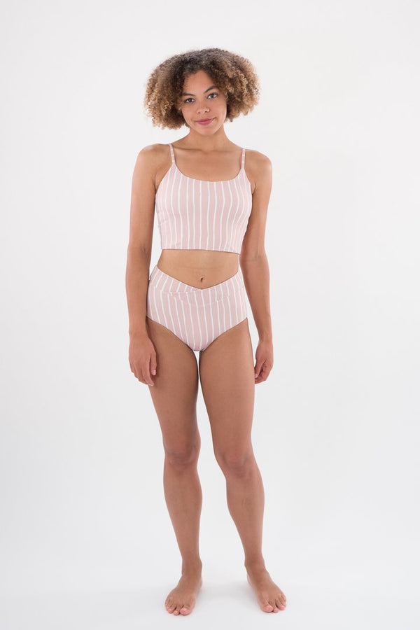 High Tide Bottom Candy Stripe-Swimwear-Raw Salt-S-UPTOWN LOCAL