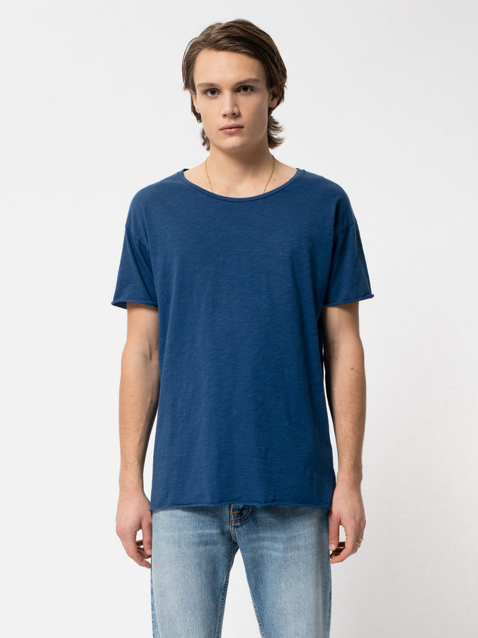 Roger Slub - Blue-T-Shirts-Nudie Jeans-S-UPTOWN LOCAL