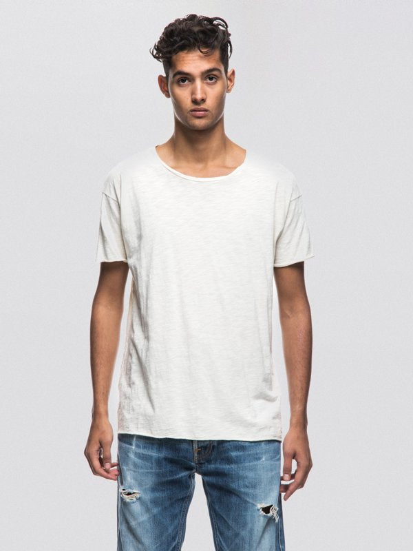Roger Slub Off White-T-Shirts-Nudie Jeans-UPTOWN LOCAL