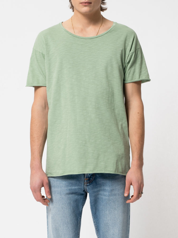 Roger Slub Tee Pale Green-T-Shirts-Nudie Jeans-S-UPTOWN LOCAL