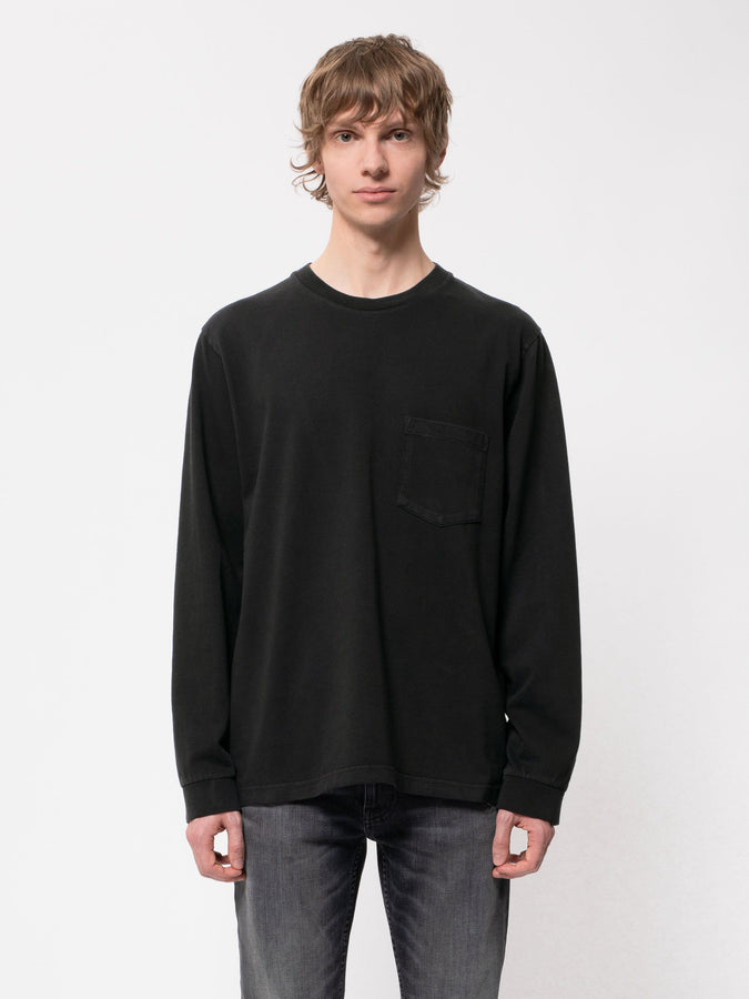 Rudy Heavy L/S Pocket Tee - Black-T-Shirts-Nudie Jeans-S-UPTOWN LOCAL
