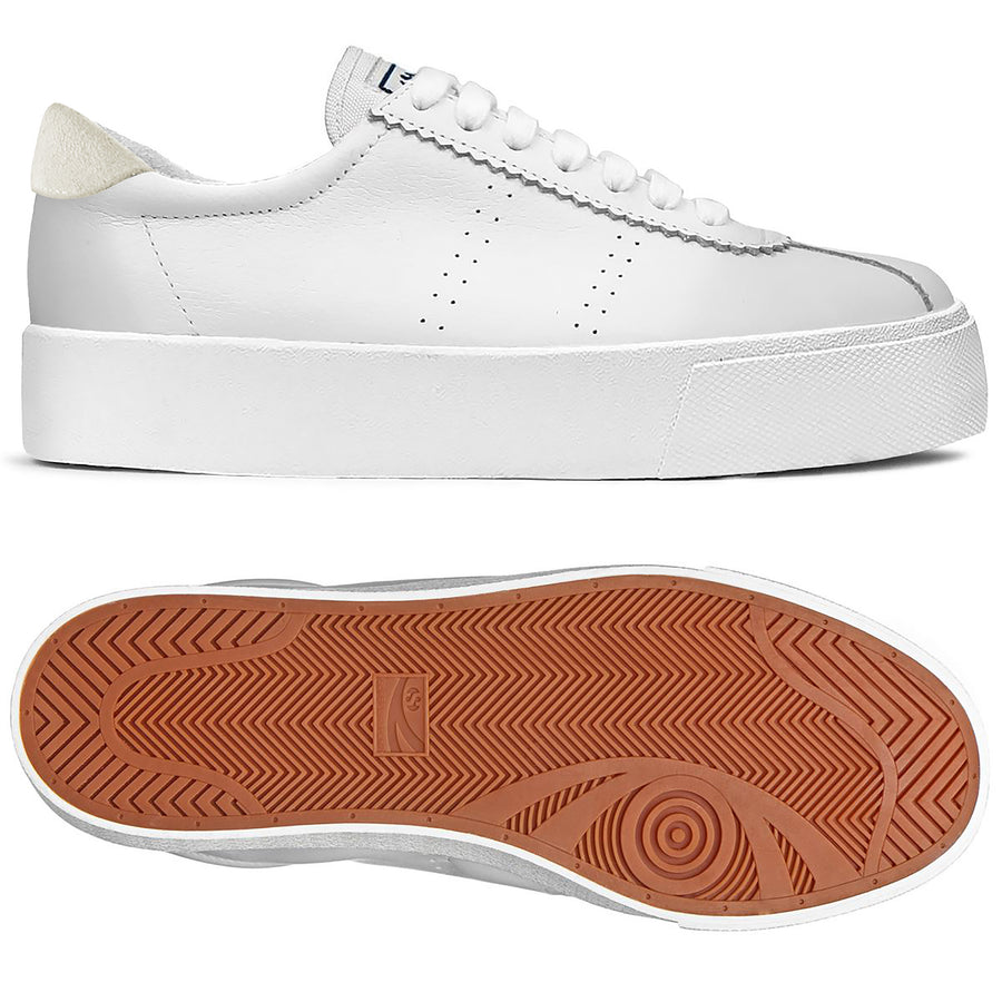 2854 Club 3 Leasuew White-Beige-Shoes-Superga-36-UPTOWN LOCAL