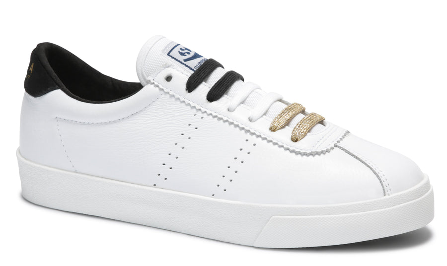2843 CLUBS COMFLEAU - WHITE / BLACK-Shoes-Superga-36-UPTOWN LOCAL