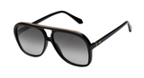 Bang Gloss Black w Gold Metal Trim/Black Gradient Lens-Sunglasses-Valley-UPTOWN LOCAL