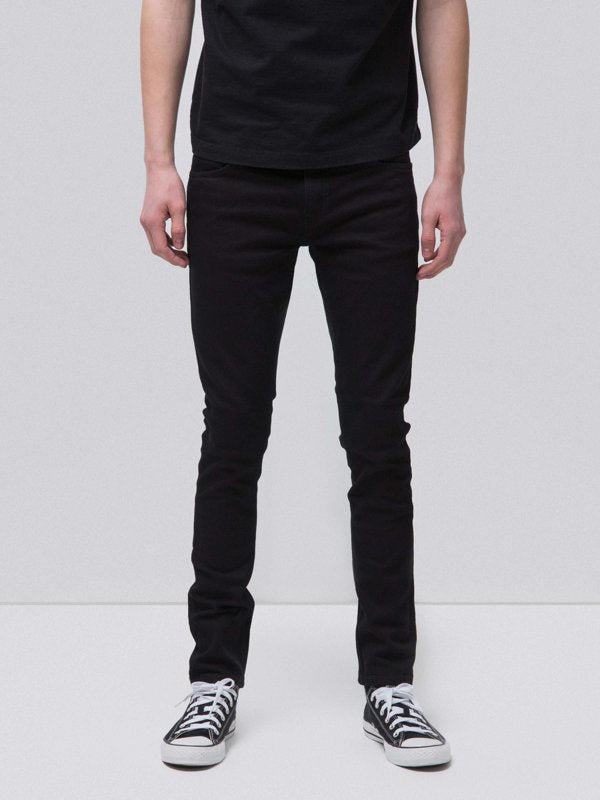 Skinny Lin Black Black-Denim-Nudie Jeans-UPTOWN LOCAL