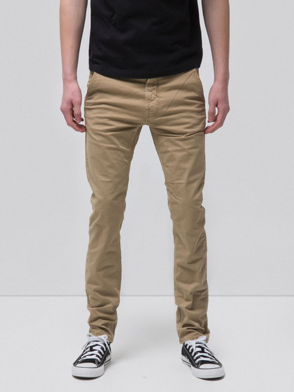 Slim Adam Beige-Pants-Nudie Jeans-UPTOWN LOCAL