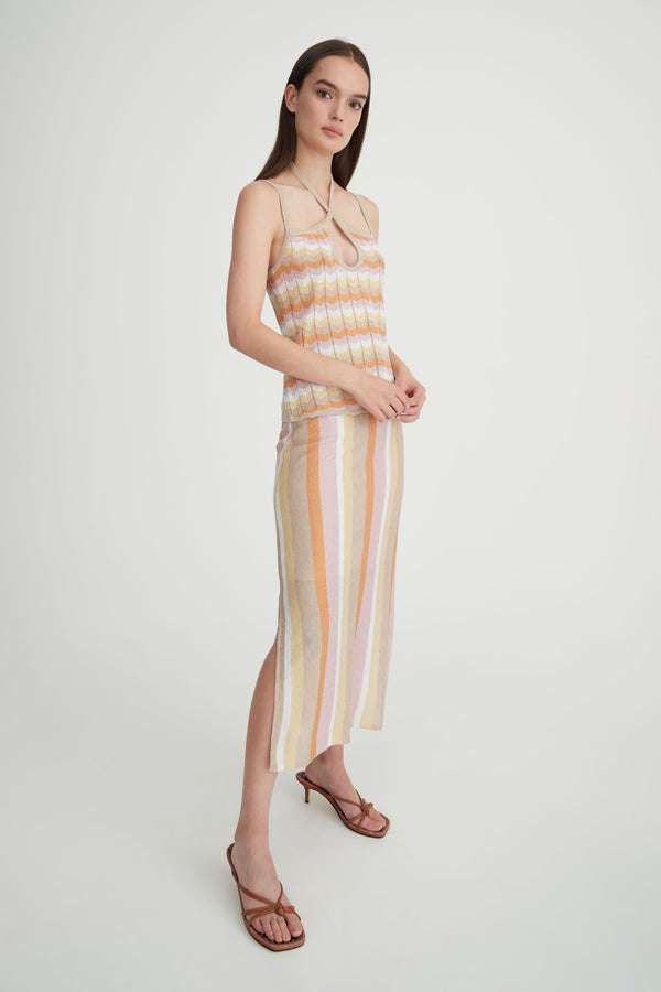 Tylen Skirt - Sunset Stripe-Skirts-Hansen and Gretel-XS-UPTOWN LOCAL