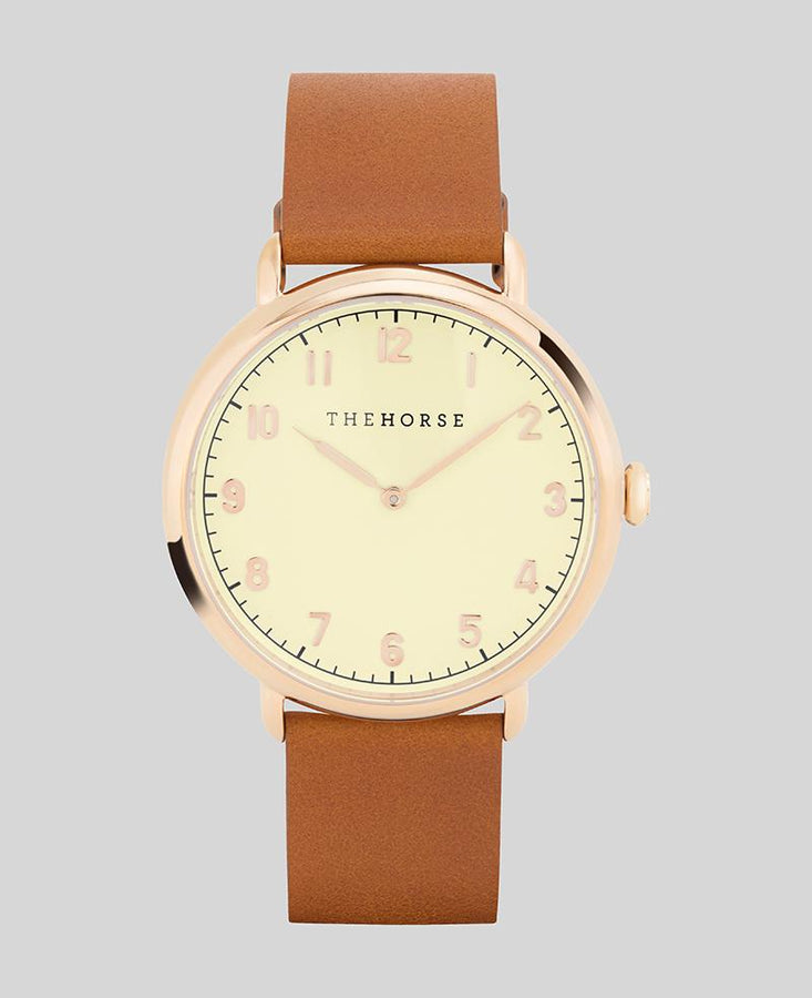 The Heritage - Polished Rose Gold / Tan
