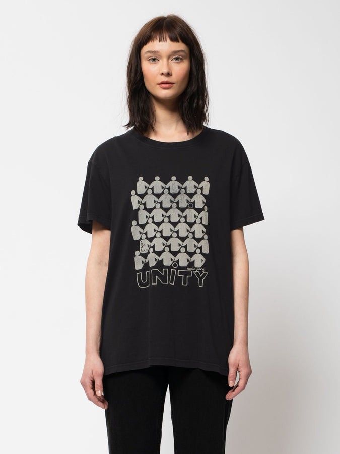 Tina 'Unity' Tee - Black-T-Shirts-Nudie Jeans-XS-UPTOWN LOCAL