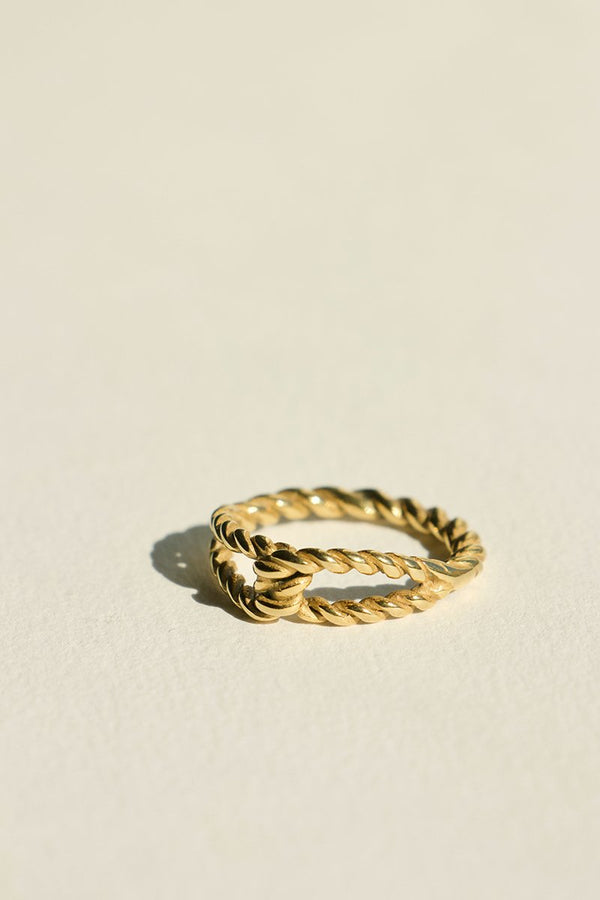 Twist Knot Ring - Gold-Rings-Brie Leon-6 (S)-UPTOWN LOCAL
