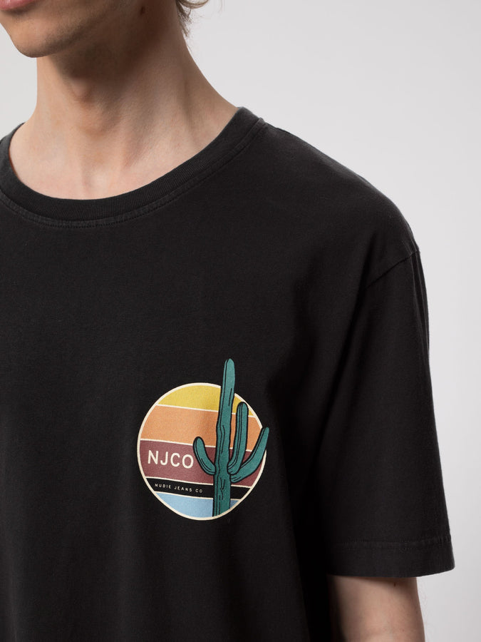 Uno Cactus - Black-T-Shirts-Nudie Jeans-S-UPTOWN LOCAL