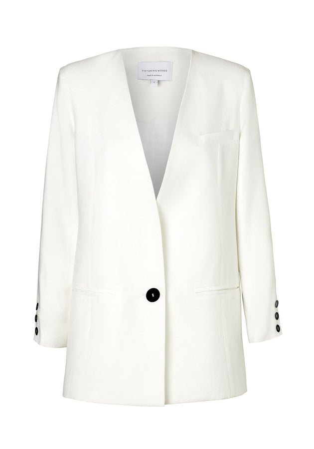 Absolution Blazer Ivory-jackets-Viktoria and Woods-UPTOWN LOCAL