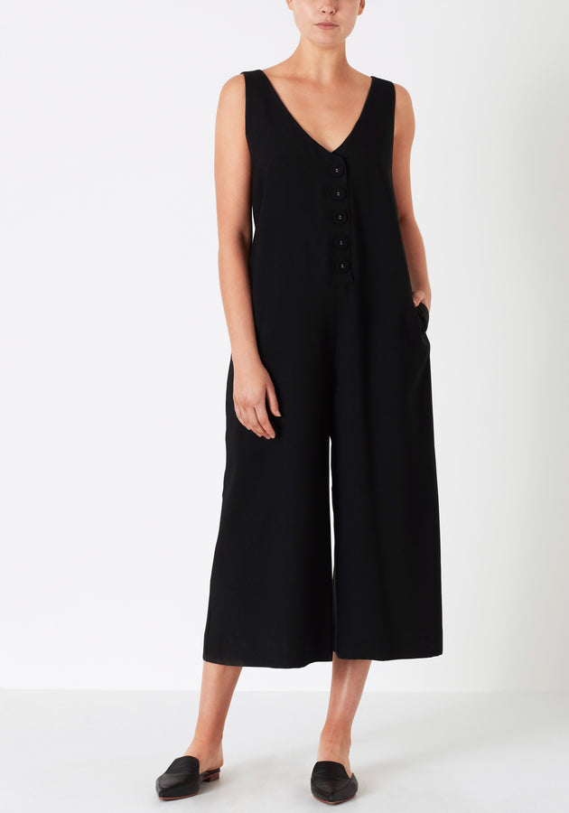 Matriarch Jumpsuit Black-Jumpsuits-Viktoria and Woods-UPTOWN LOCAL