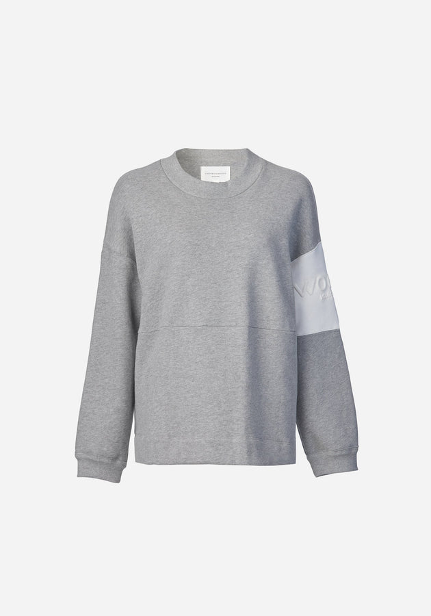 WOODS Embossed Sweat - Grey Marl-Jumpers-Viktoria and Woods-0-UPTOWN LOCAL