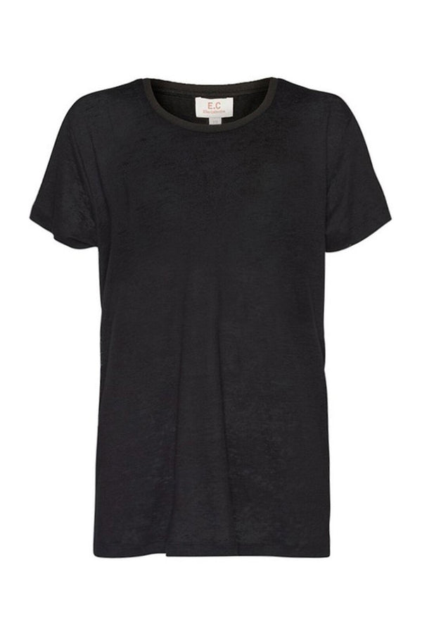 EC Linen Crew Neck Tee - Washed Black-T-Shirts-Elka Collective-6-UPTOWN LOCAL