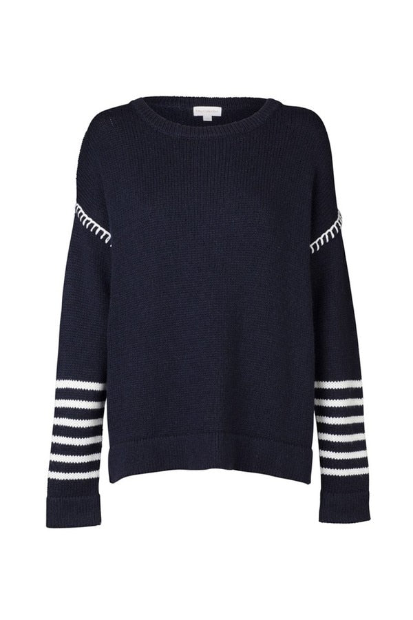 Saint Gervais Knit Navy-Knitwear-Elka Collective-UPTOWN LOCAL