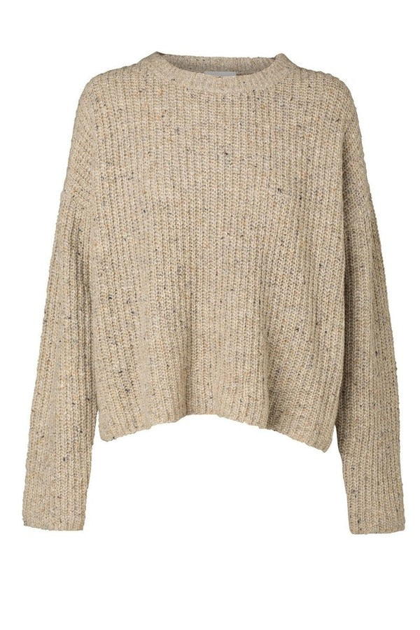 Aceline Knit Oatmeal Marle-Knitwear-Elka Collective-UPTOWN LOCAL