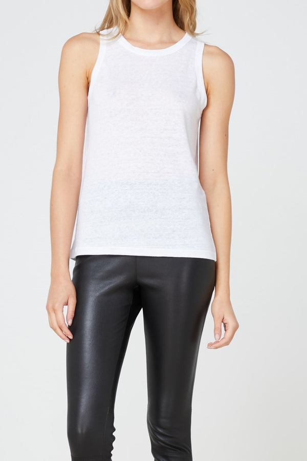 EC Linen Tank 2.0 - White-Tops-Elka Collective-6-UPTOWN LOCAL