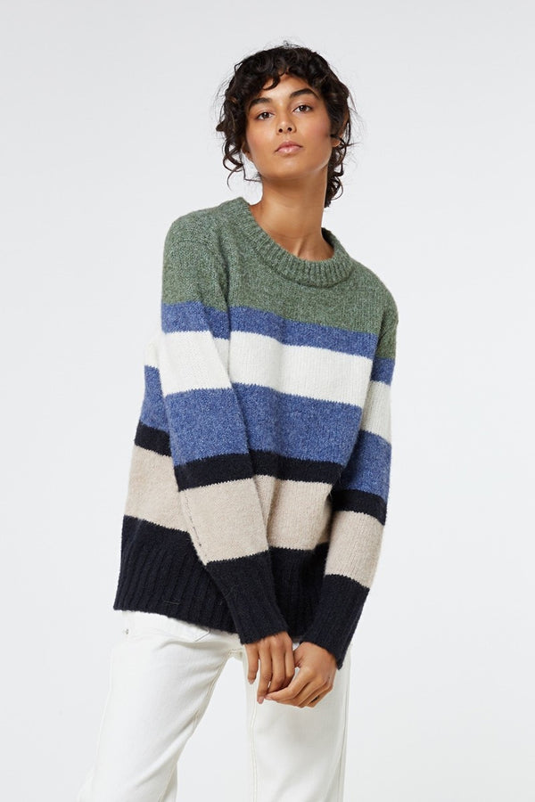 Sinclair Knit - Multi Stripe-Knitwear-Elka Collective-6-UPTOWN LOCAL