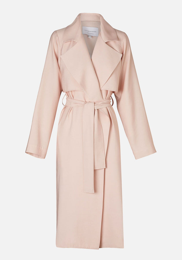 University Trench Blush Pink-jackets-Viktoria and Woods-UPTOWN LOCAL