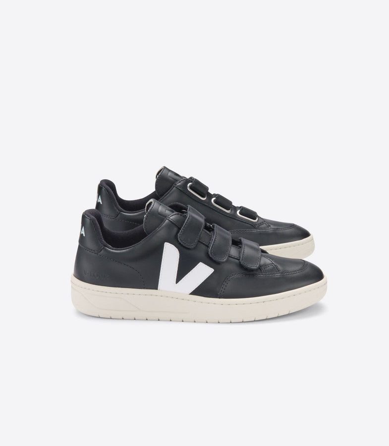 V-LOCK Leather - Black / White-Shoes-Veja-36-UPTOWN LOCAL