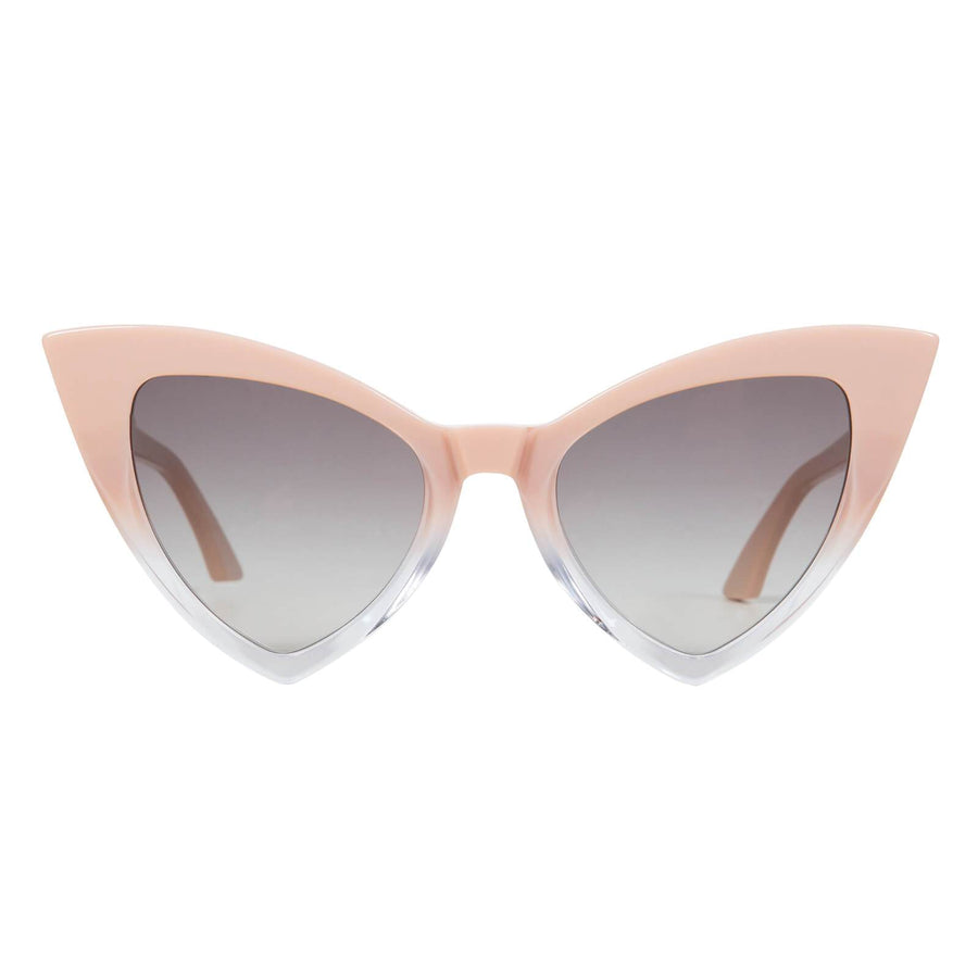 Jennie Vee Dusty Pink to Clear/Black Gradient Lens-Sunglasses-Valley-UPTOWN LOCAL