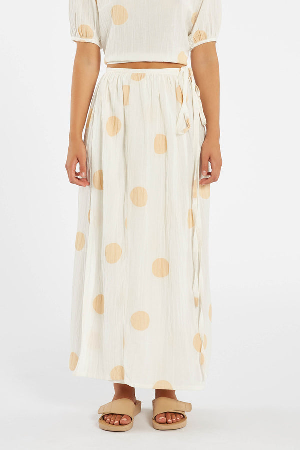 Sol Skirt - Off White / Tan Spot-Skirts-Zulu and Zephyr-6-UPTOWN LOCAL