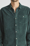 Men At Work Fat Cord Shirt - Pine-Shirts-Rolla's-S-UPTOWN LOCAL