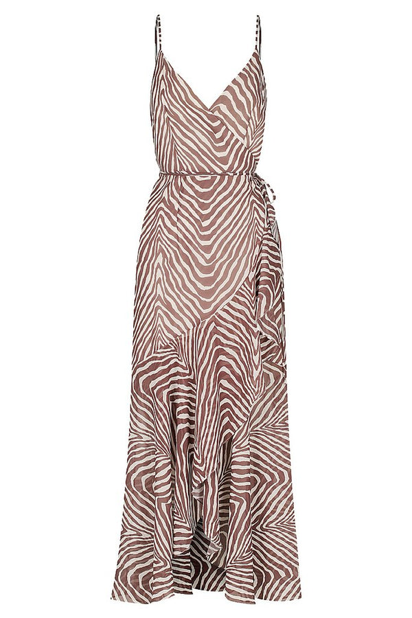 Benita Cocktail Wrap Dress Zebra