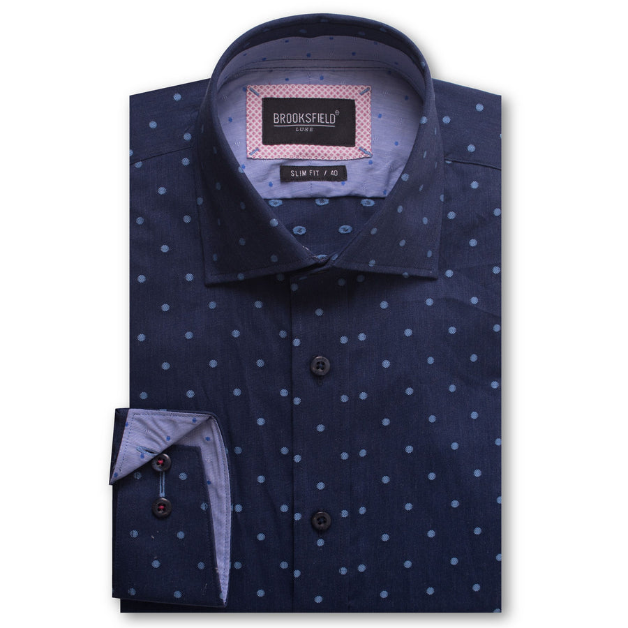 BFC1485 Navy-Shirts-Brooksfield-UPTOWN LOCAL