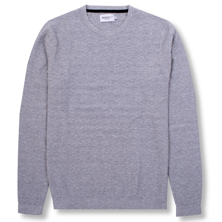 Diamond Knit Sweater Grey