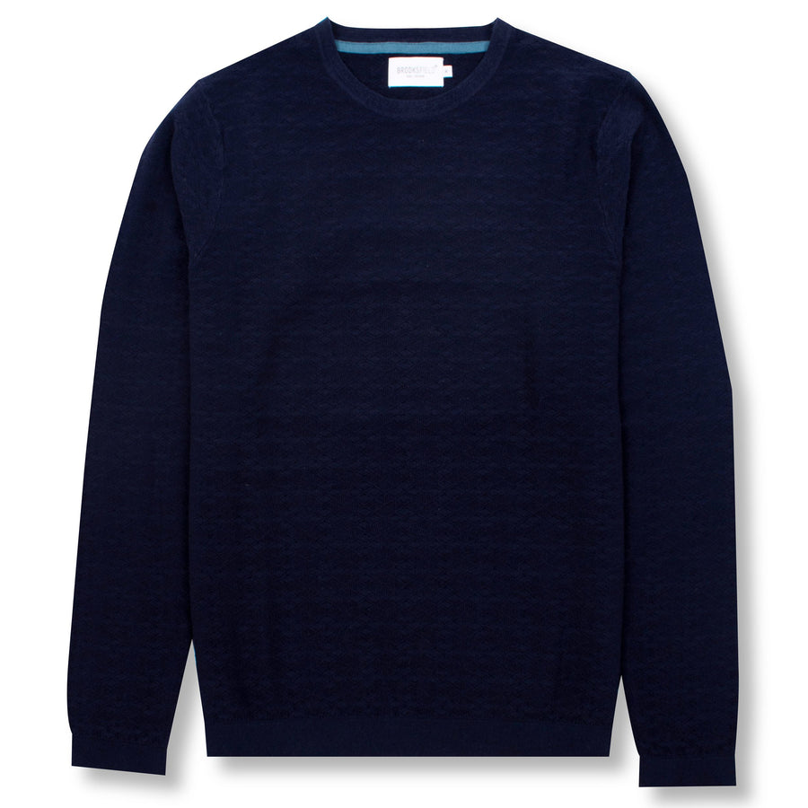 Diamond Knit Sweater Navy