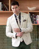 BFU862 Linen Blend Blazer - Sand-Jackets-Brooksfield-38 (S)-UPTOWN LOCAL