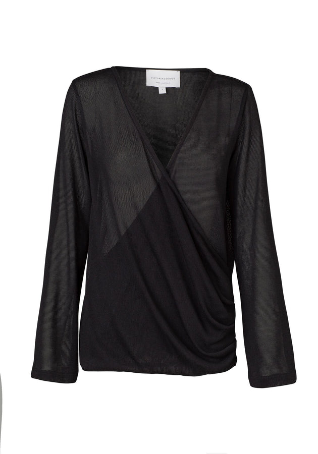 Orson Wrap Top Black-Tops-Viktoria and Woods-UPTOWN LOCAL