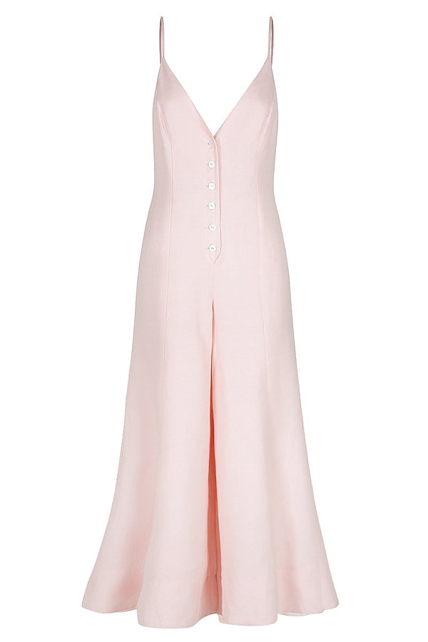 Brooke Flared Jumpsuit Pastel Pink-Jumpsuits-Shona Joy-UPTOWN LOCAL